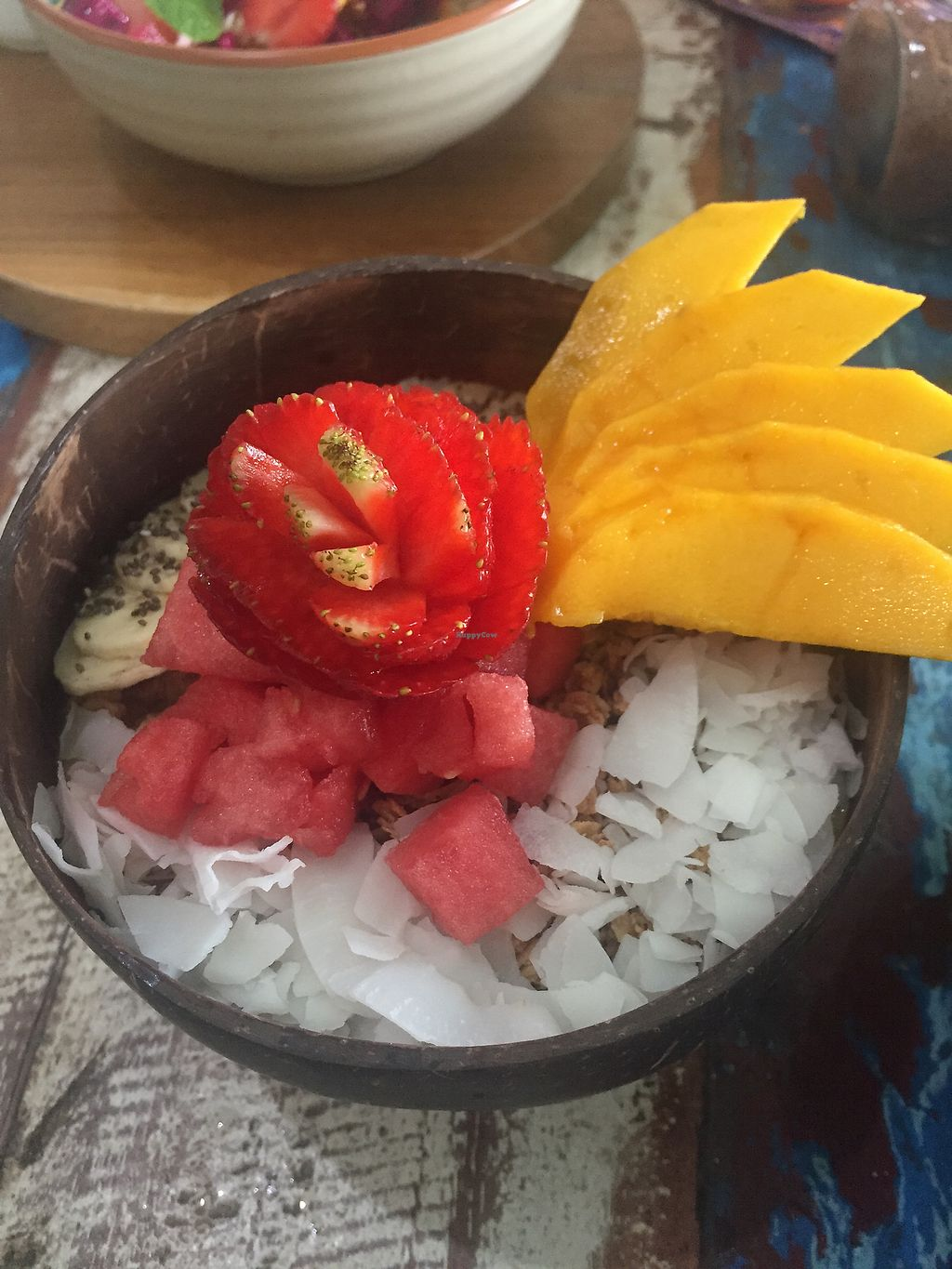 """Photo of CLOSED: The Spicy Coconut  by <a href=""""/members/profile/auroreFR"""">auroreFR</a> <br/>mango madness smoothie bowl  <br/> August 21, 2017  - <a href='/contact/abuse/image/73419/295047'>Report</a>"""