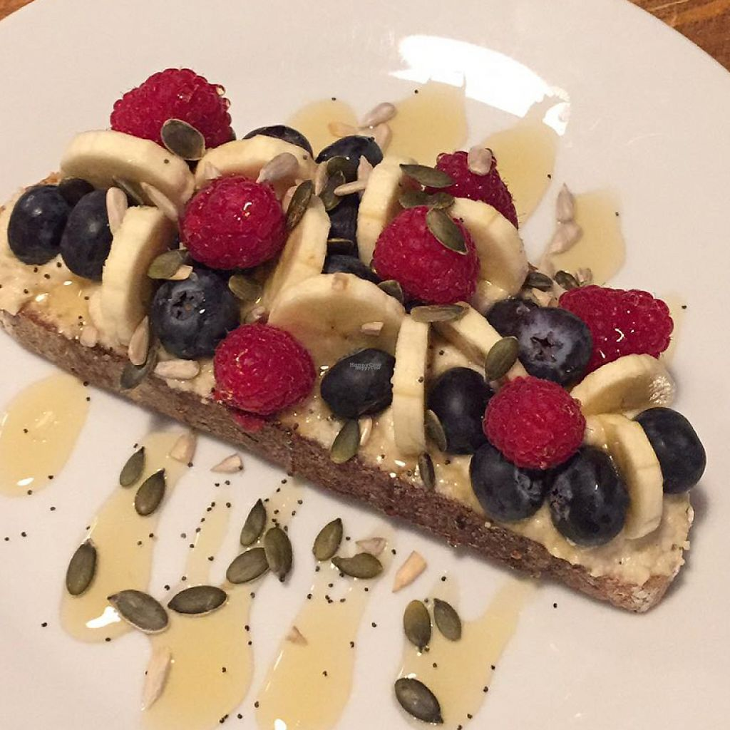 "Photo of Home Coffee  by <a href=""/members/profile/Kimxula"">Kimxula</a> <br/>berry banana toast with cashew ""cream cheese"" <br/> December 8, 2016  - <a href='/contact/abuse/image/73422/198214'>Report</a>"