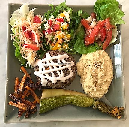 """Photo of Badaboom  by <a href=""""/members/profile/kezia"""">kezia</a> <br/>'Plat du jour' which I believe is Badaboom's signature dish from the lunch menu. Vegan <br/> October 19, 2017  - <a href='/contact/abuse/image/73436/316674'>Report</a>"""