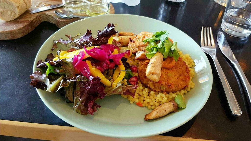 "Photo of Aalto Bistro  by <a href=""/members/profile/MacGuru96"">MacGuru96</a> <br/>The course of the day. Aside from the couscous, mushrooms and salad, I can't recall exactly what the meal was, other than that it was vegan and delicious! <br/> July 1, 2016  - <a href='/contact/abuse/image/73444/157146'>Report</a>"