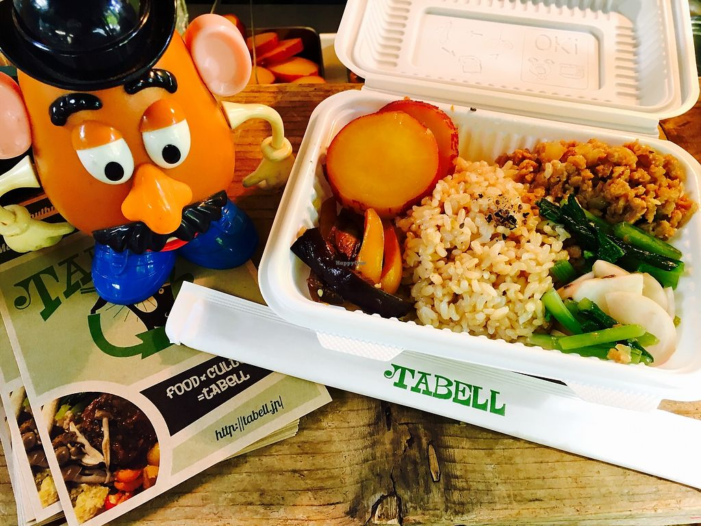 """Photo of Tabell - Food Truck  by <a href=""""/members/profile/%E5%AE%AE%E4%BB%A3%E9%BA%BB%E7%BE%8E"""">宮代麻美</a> <br/>Bibimbap vegan lunchbox. All organic brown rice <br/> October 10, 2017  - <a href='/contact/abuse/image/73458/313839'>Report</a>"""