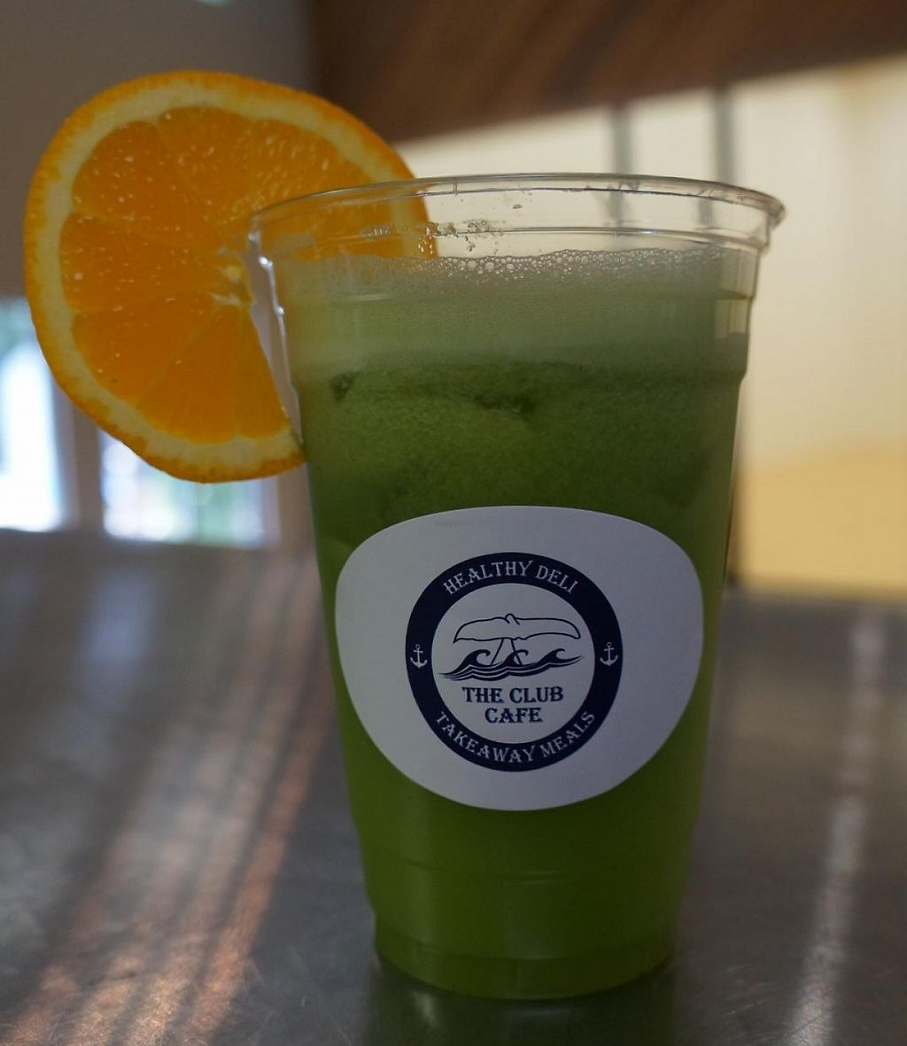 """Photo of CLOSED: The Club Cafe  by <a href=""""/members/profile/piglet"""">piglet</a> <br/>Green Machine - pear, avocado, spinach, matcha powder, cucumber, vanilla soy milk <br/> May 20, 2016  - <a href='/contact/abuse/image/73474/198958'>Report</a>"""