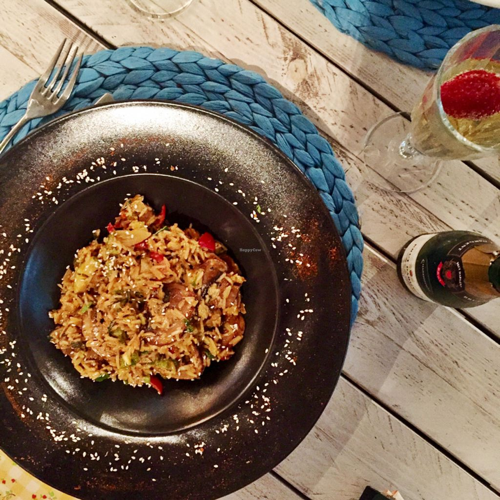 """Photo of Yard of Taste  by <a href=""""/members/profile/Venetia"""">Venetia</a> <br/>vegan mushroom risotto  <br/> June 11, 2016  - <a href='/contact/abuse/image/73484/153374'>Report</a>"""