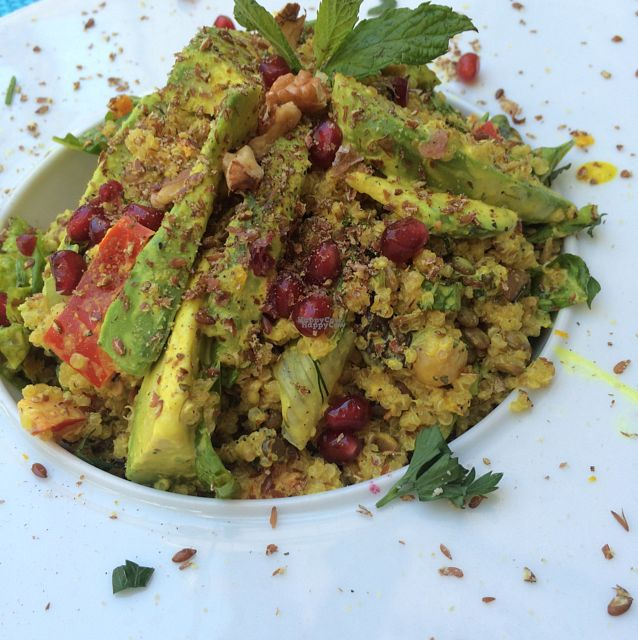 """Photo of Yard of Taste  by <a href=""""/members/profile/jjpink34"""">jjpink34</a> <br/>super quinoa salad - so filling and delicious!  <br/> September 4, 2016  - <a href='/contact/abuse/image/73484/173602'>Report</a>"""