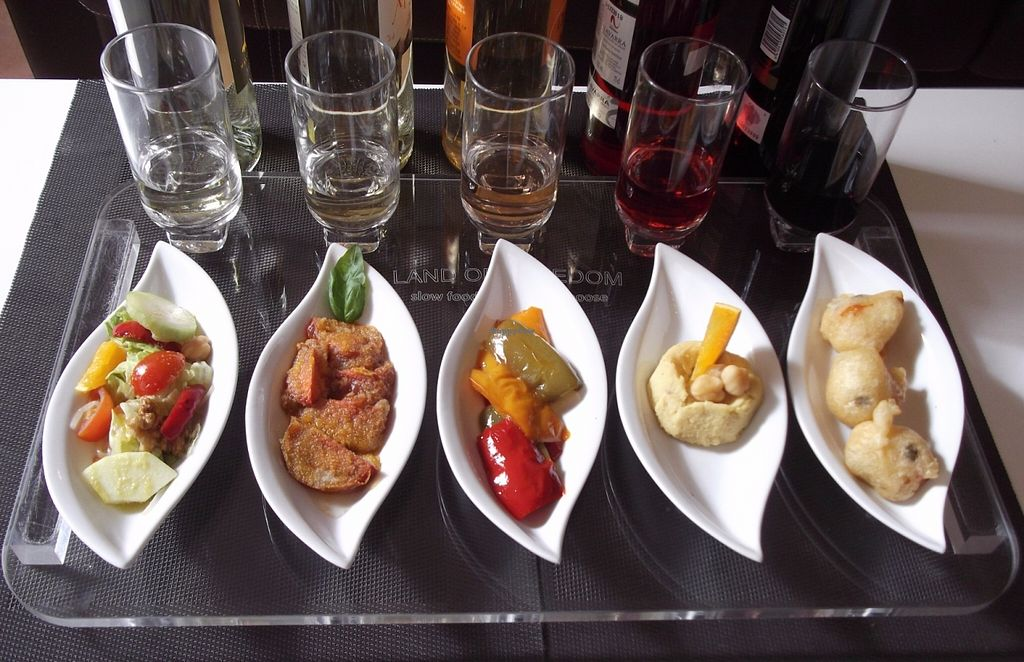 """Photo of Land of Freedom  by <a href=""""/members/profile/RaffaeleB"""">RaffaeleB</a> <br/>Land of Freedom restaurant - tapas bar: Vegan tray <br/> June 1, 2016  - <a href='/contact/abuse/image/73536/151722'>Report</a>"""