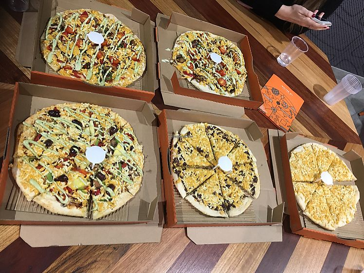 "Photo of ROUND  by <a href=""/members/profile/Jess3y"">Jess3y</a> <br/>vegan pizzas  <br/> June 26, 2017  - <a href='/contact/abuse/image/73557/273603'>Report</a>"