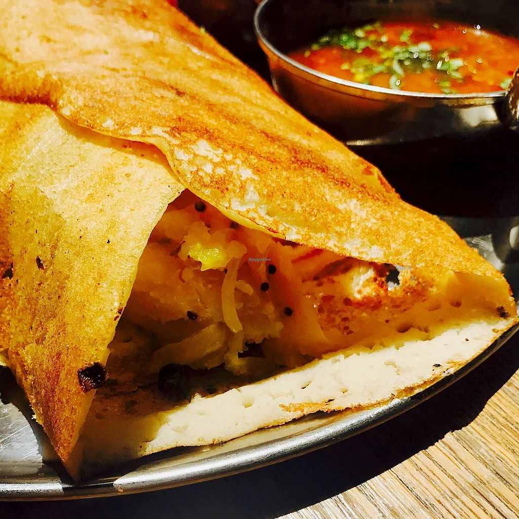 "Photo of Dosa Bar  by <a href=""/members/profile/batman_is_vegan"">batman_is_vegan</a> <br/>Masala Dosa <br/> September 17, 2017  - <a href='/contact/abuse/image/73572/305488'>Report</a>"
