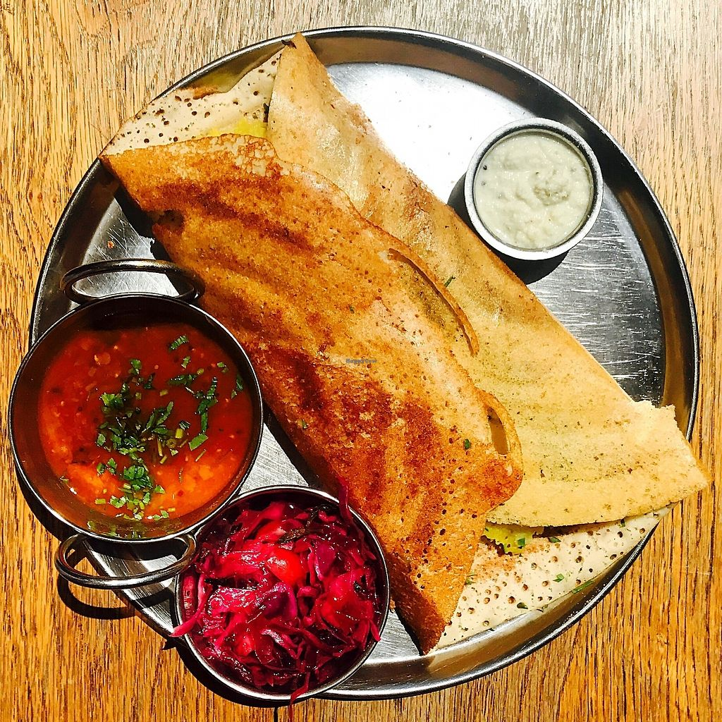 "Photo of Dosa Bar  by <a href=""/members/profile/batman_is_vegan"">batman_is_vegan</a> <br/>Masala Dosa <br/> September 17, 2017  - <a href='/contact/abuse/image/73572/305489'>Report</a>"