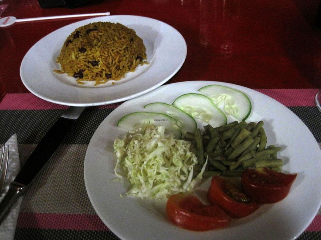 """Photo of Al's  by <a href=""""/members/profile/Babette"""">Babette</a> <br/>Rice and beans and a salad. The rice and beans were really good <br/> May 15, 2016  - <a href='/contact/abuse/image/73606/149086'>Report</a>"""