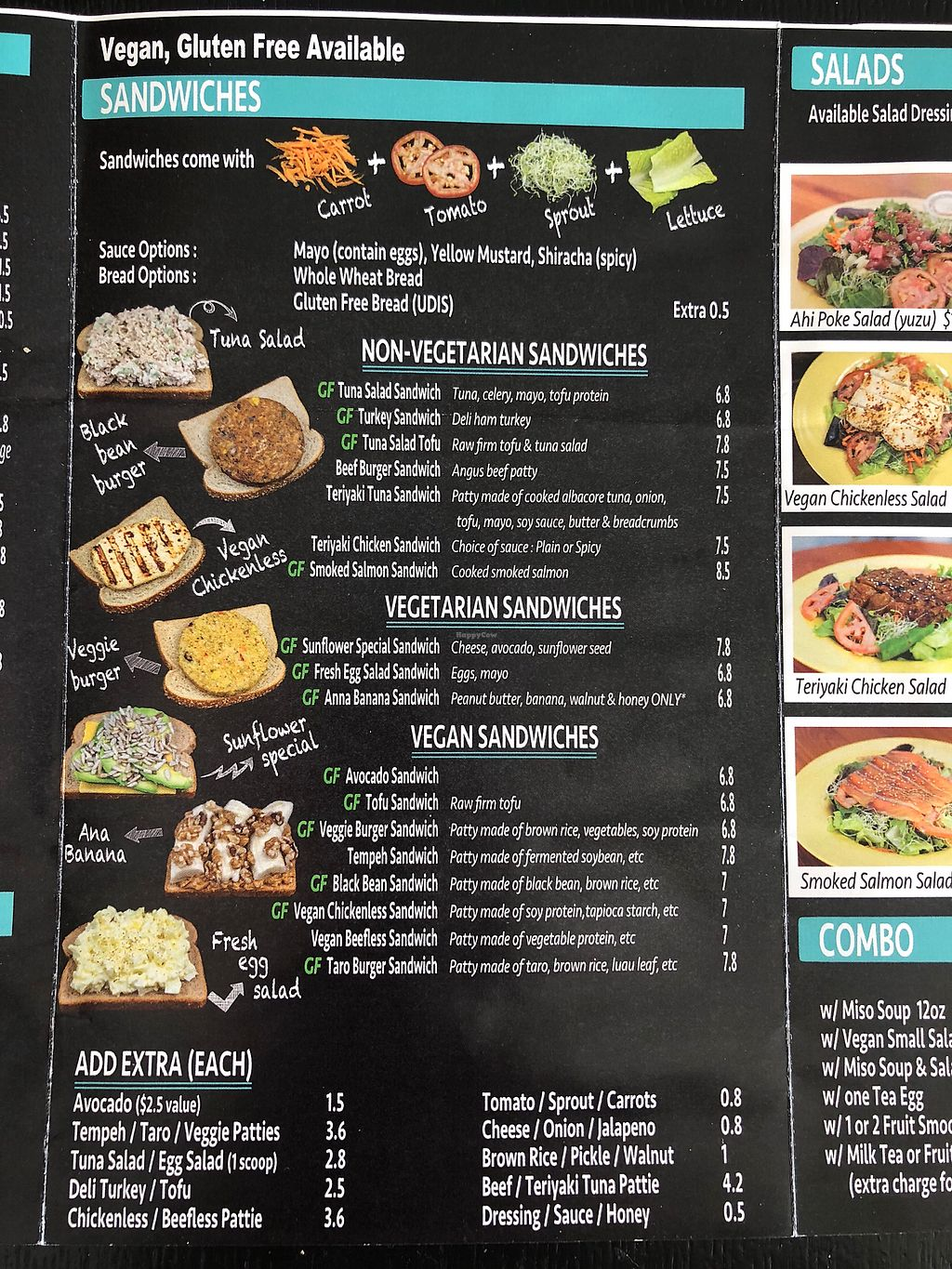 "Photo of Ruffage Natural Foods  by <a href=""/members/profile/veronikastealz"">veronikastealz</a> <br/>Updated menu (Feb 2018) Vegan Sandwiches <br/> February 8, 2018  - <a href='/contact/abuse/image/7361/356477'>Report</a>"