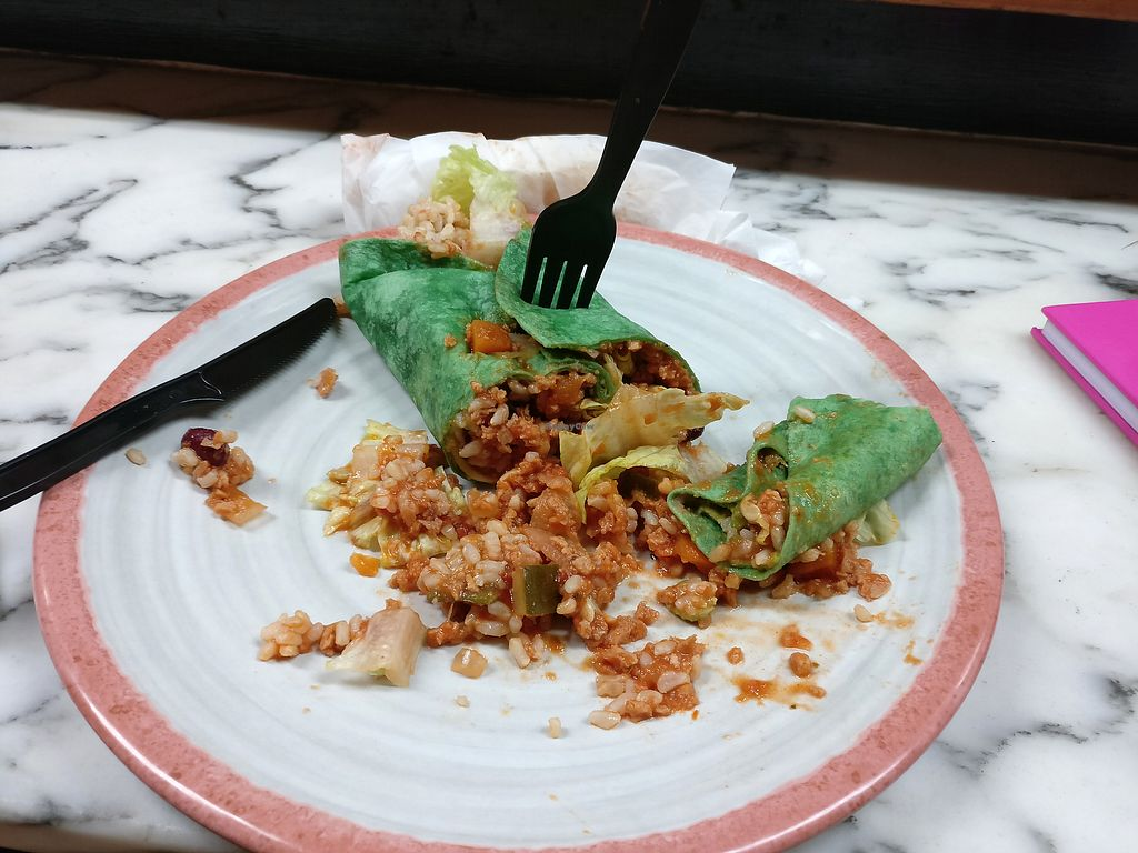 "Photo of Ruffage Natural Foods  by <a href=""/members/profile/KarinKoala"">KarinKoala</a> <br/>vegan burrito fill with the vegan chili <br/> March 23, 2018  - <a href='/contact/abuse/image/7361/374867'>Report</a>"