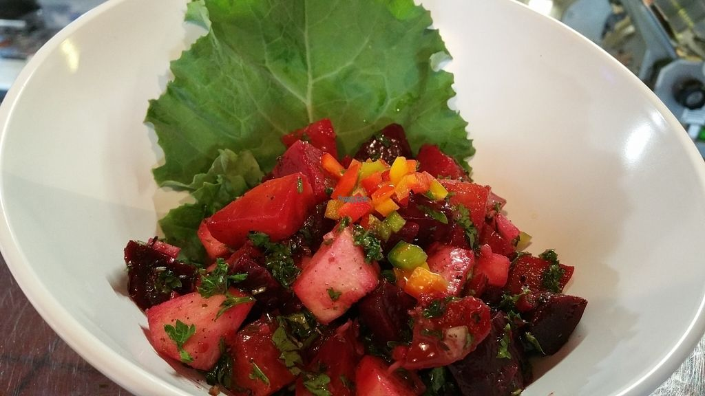 """Photo of The Hummus House   by <a href=""""/members/profile/Hummushouse1502"""">Hummushouse1502</a> <br/>Beets salad <br/> September 16, 2016  - <a href='/contact/abuse/image/73626/176059'>Report</a>"""