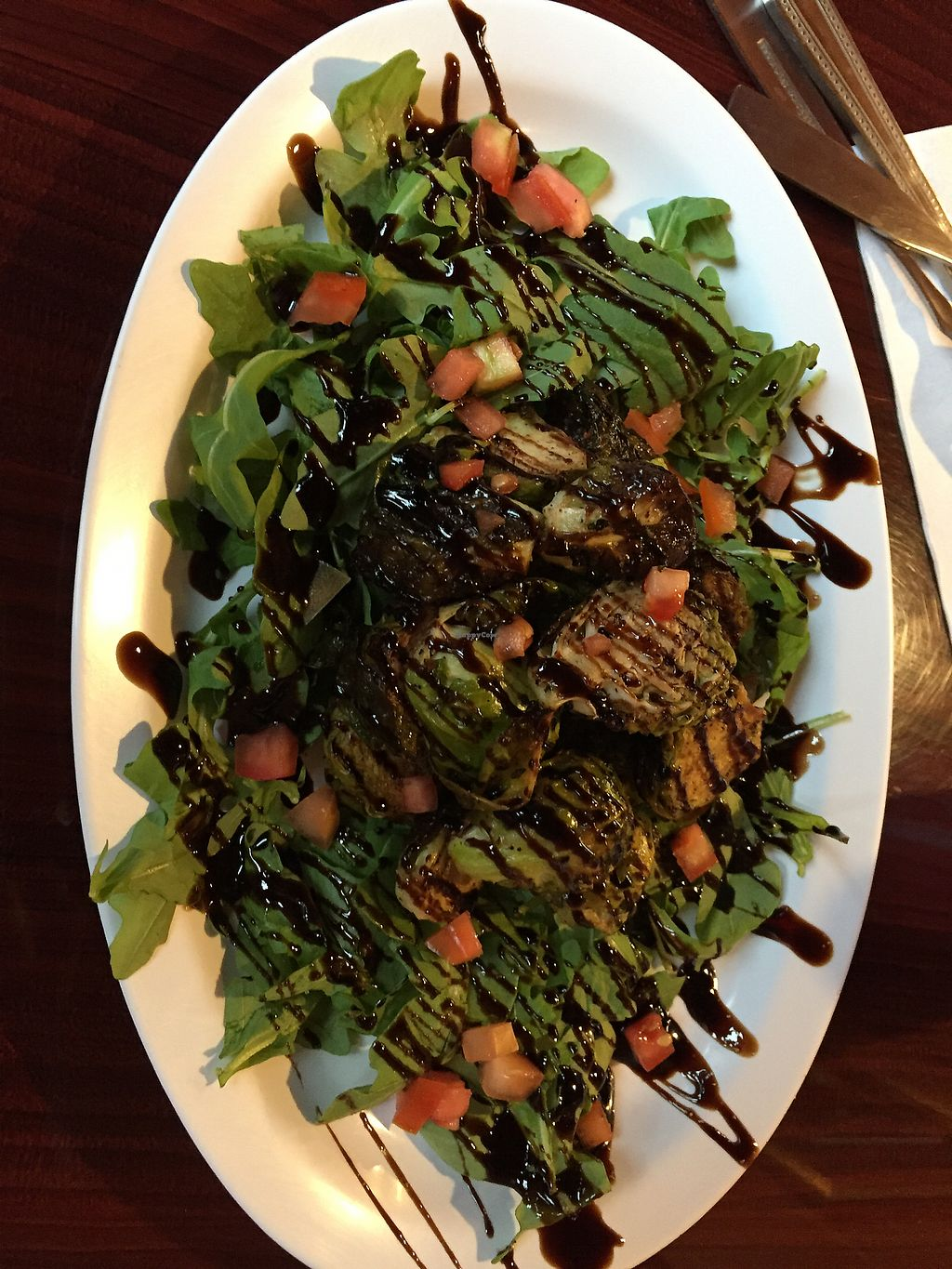 """Photo of The Hummus House   by <a href=""""/members/profile/jerseygirlinpa"""">jerseygirlinpa</a> <br/>Roasted Brussels sprouts balsamic  <br/> September 4, 2017  - <a href='/contact/abuse/image/73626/300704'>Report</a>"""