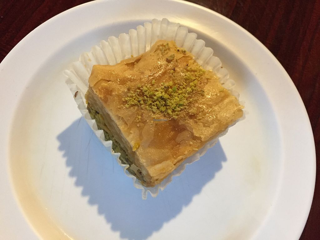 """Photo of The Hummus House   by <a href=""""/members/profile/jerseygirlinpa"""">jerseygirlinpa</a> <br/>Vegan baklava  <br/> September 4, 2017  - <a href='/contact/abuse/image/73626/300706'>Report</a>"""