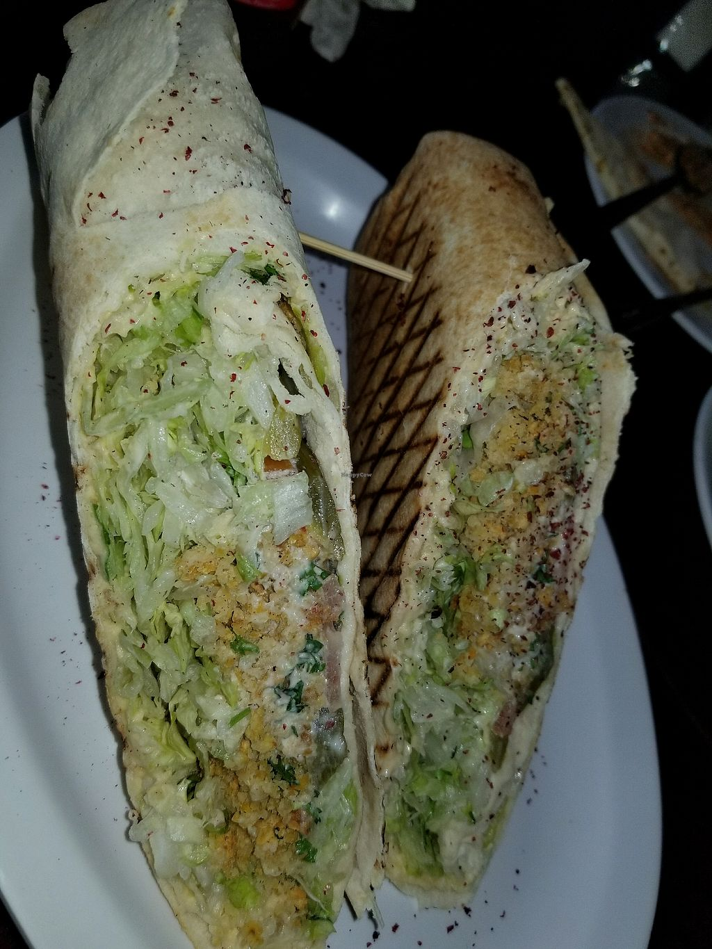 """Photo of The Hummus House   by <a href=""""/members/profile/KendraWolfe"""">KendraWolfe</a> <br/>Falafel panini  <br/> April 21, 2018  - <a href='/contact/abuse/image/73626/389184'>Report</a>"""
