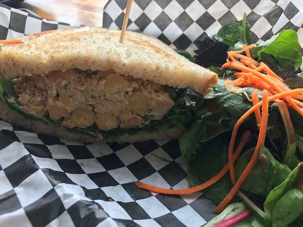 """Photo of Berben and Wolff's Vegan Delicatessen  by <a href=""""/members/profile/Risa8"""">Risa8</a> <br/>chickpea sandwich <br/> August 18, 2017  - <a href='/contact/abuse/image/73663/294040'>Report</a>"""
