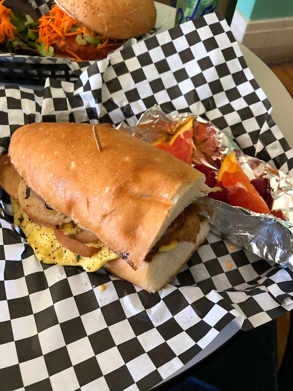 """Photo of Berben and Wolff's Vegan Delicatessen  by <a href=""""/members/profile/KaitlynnGill"""">KaitlynnGill</a> <br/>Breakfast sammy <br/> February 3, 2018  - <a href='/contact/abuse/image/73663/354422'>Report</a>"""