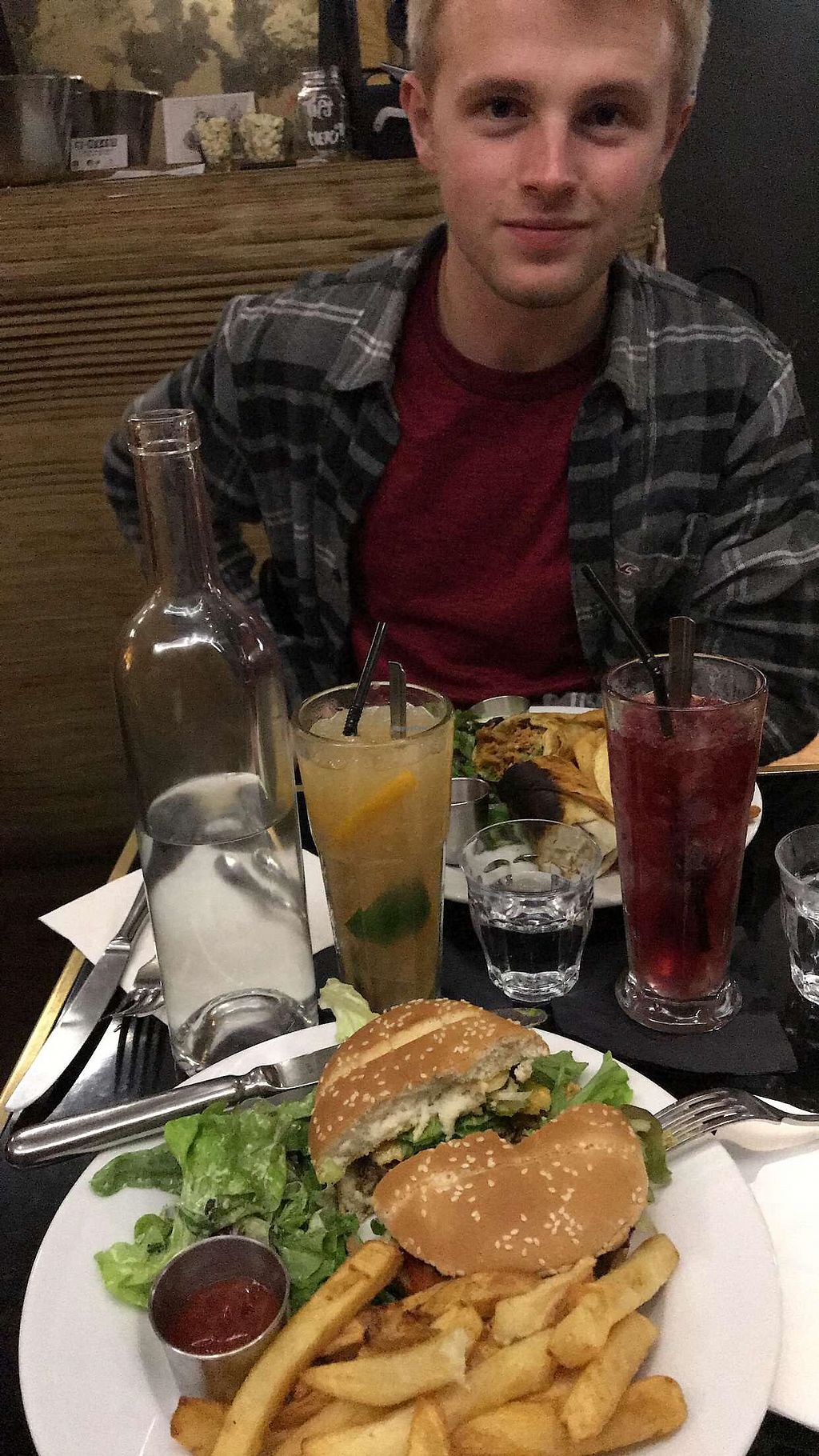 """Photo of Brasserie 2eme Art  by <a href=""""/members/profile/kipear"""">kipear</a> <br/>the kebab maison and the vegan cheese burger!!!!! also had Jamaican mule and the lola for drinks; the lola was incredible <br/> October 14, 2017  - <a href='/contact/abuse/image/73690/314977'>Report</a>"""