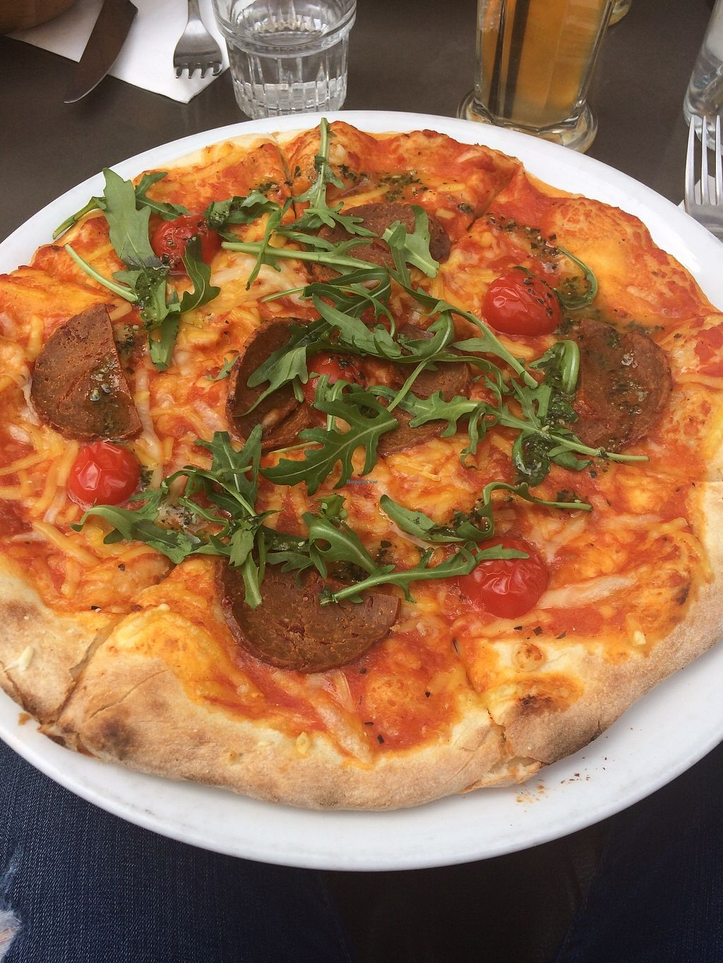 "Photo of Brasserie 2eme Art  by <a href=""/members/profile/sabrinajh"">sabrinajh</a> <br/>Chorizo pizza with ""chorizo,"" cherry tomatoes, basil, and pesto! Best pizza I've ever had. House-made cheese.  <br/> April 13, 2018  - <a href='/contact/abuse/image/73690/385268'>Report</a>"