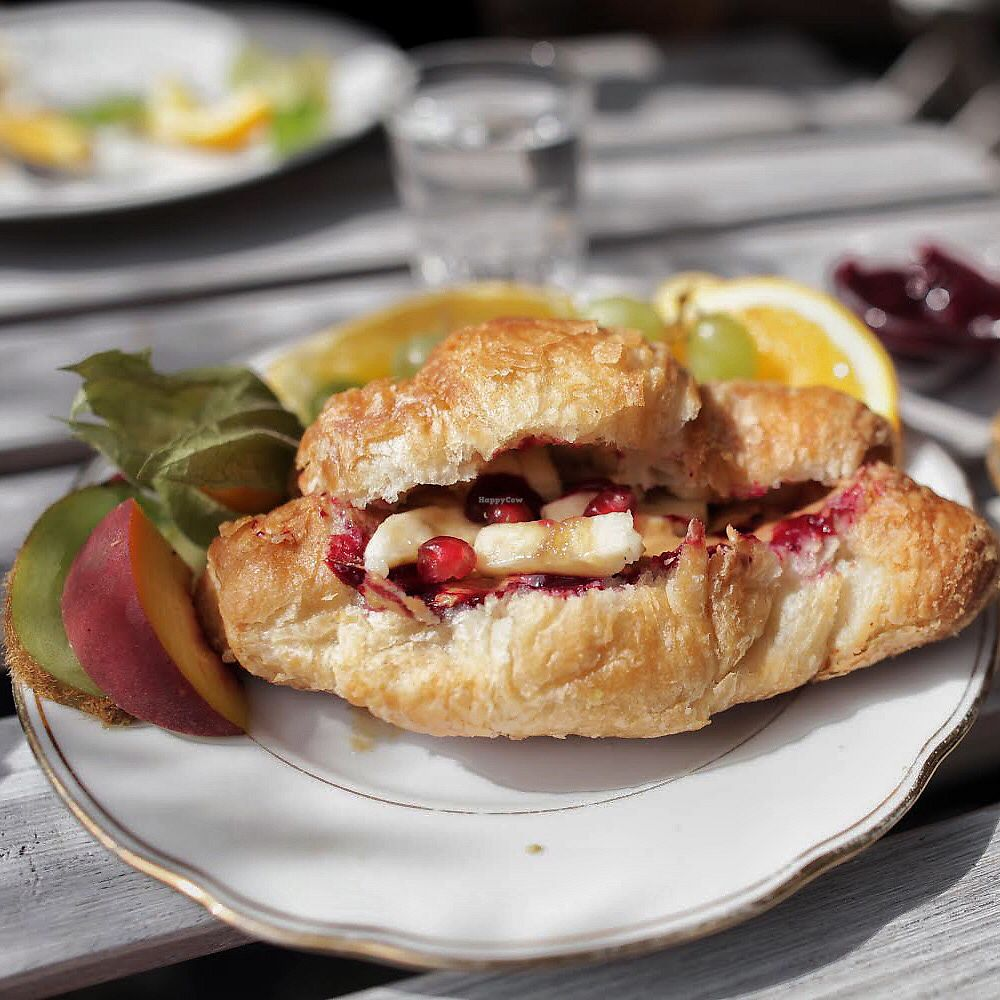 """Photo of Cafe Neue Liebe  by <a href=""""/members/profile/thecharlotte"""">thecharlotte</a> <br/>Peanut butter, jelly and banana croissant  <br/> September 1, 2017  - <a href='/contact/abuse/image/73735/299637'>Report</a>"""