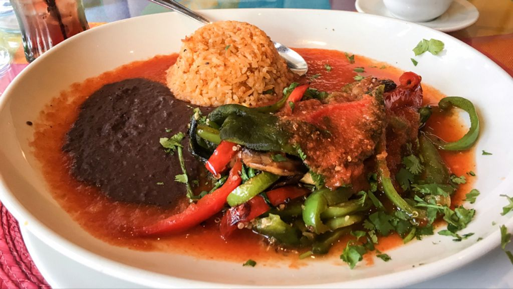 """Photo of Aroma Mexican Cuisine  by <a href=""""/members/profile/leont"""">leont</a> <br/>Vegan Poblano <br/> July 7, 2016  - <a href='/contact/abuse/image/73764/158201'>Report</a>"""