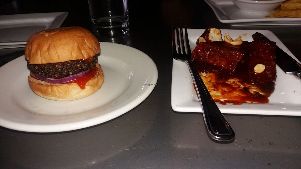"""Photo of Leaf Vegetarian Restaurant  by <a href=""""/members/profile/Diz%20Parker"""">Diz Parker</a> <br/>Mushroom slider and marinated tofu <br/> May 19, 2016  - <a href='/contact/abuse/image/7376/149879'>Report</a>"""