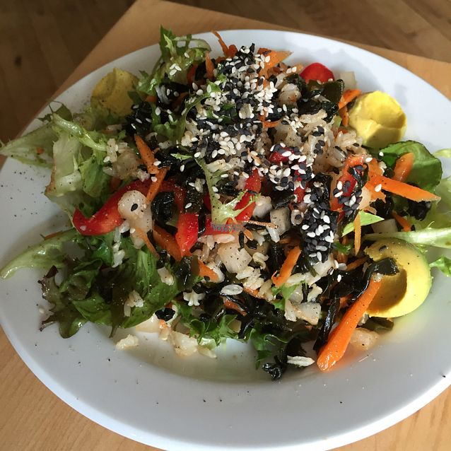 """Photo of Leaf Vegetarian Restaurant  by <a href=""""/members/profile/Ellenkm"""">Ellenkm</a> <br/>sushi salad <br/> August 26, 2016  - <a href='/contact/abuse/image/7376/171453'>Report</a>"""