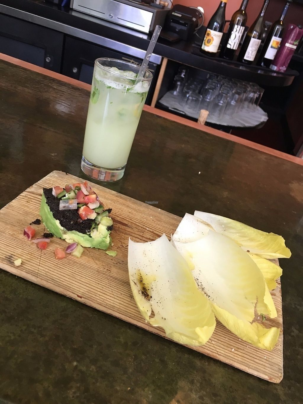 """Photo of Leaf Vegetarian Restaurant  by <a href=""""/members/profile/VeggieGastronaut"""">VeggieGastronaut</a> <br/>Avocado Tartare and Mint Lemonade <br/> April 5, 2017  - <a href='/contact/abuse/image/7376/245007'>Report</a>"""