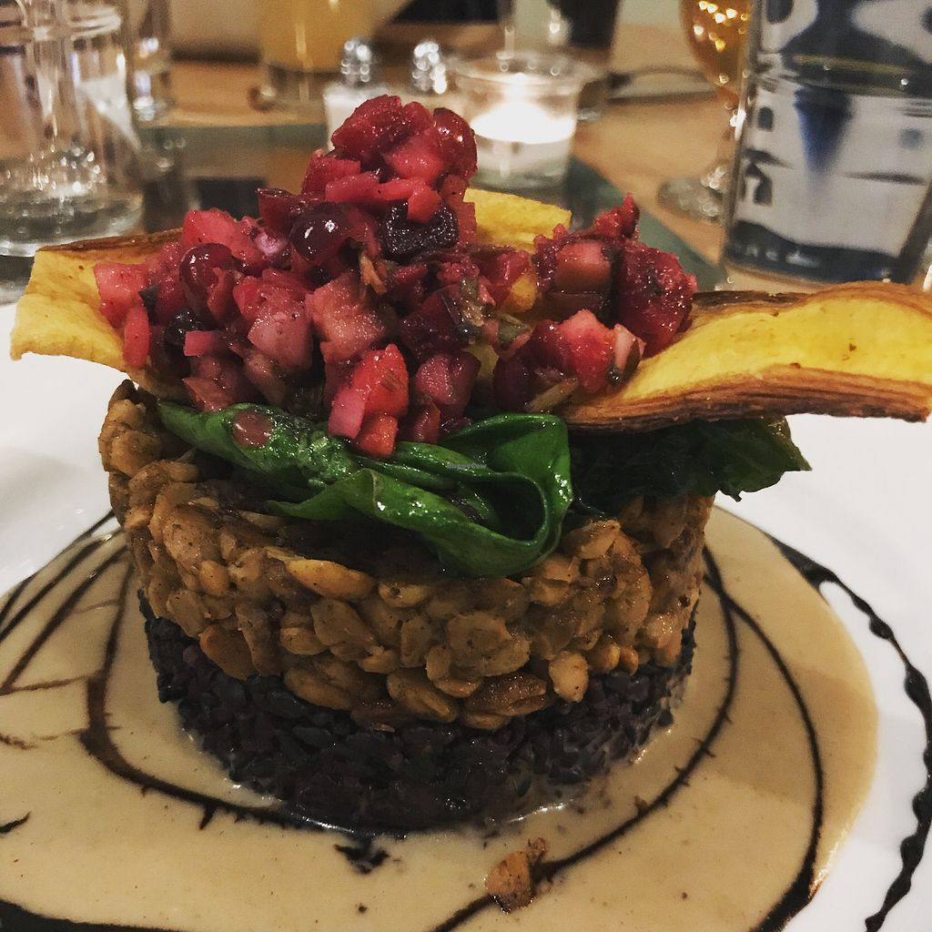 """Photo of Leaf Vegetarian Restaurant  by <a href=""""/members/profile/Melkarch"""">Melkarch</a> <br/>Black Rice with Tempeh and plantains <br/> February 17, 2018  - <a href='/contact/abuse/image/7376/360545'>Report</a>"""