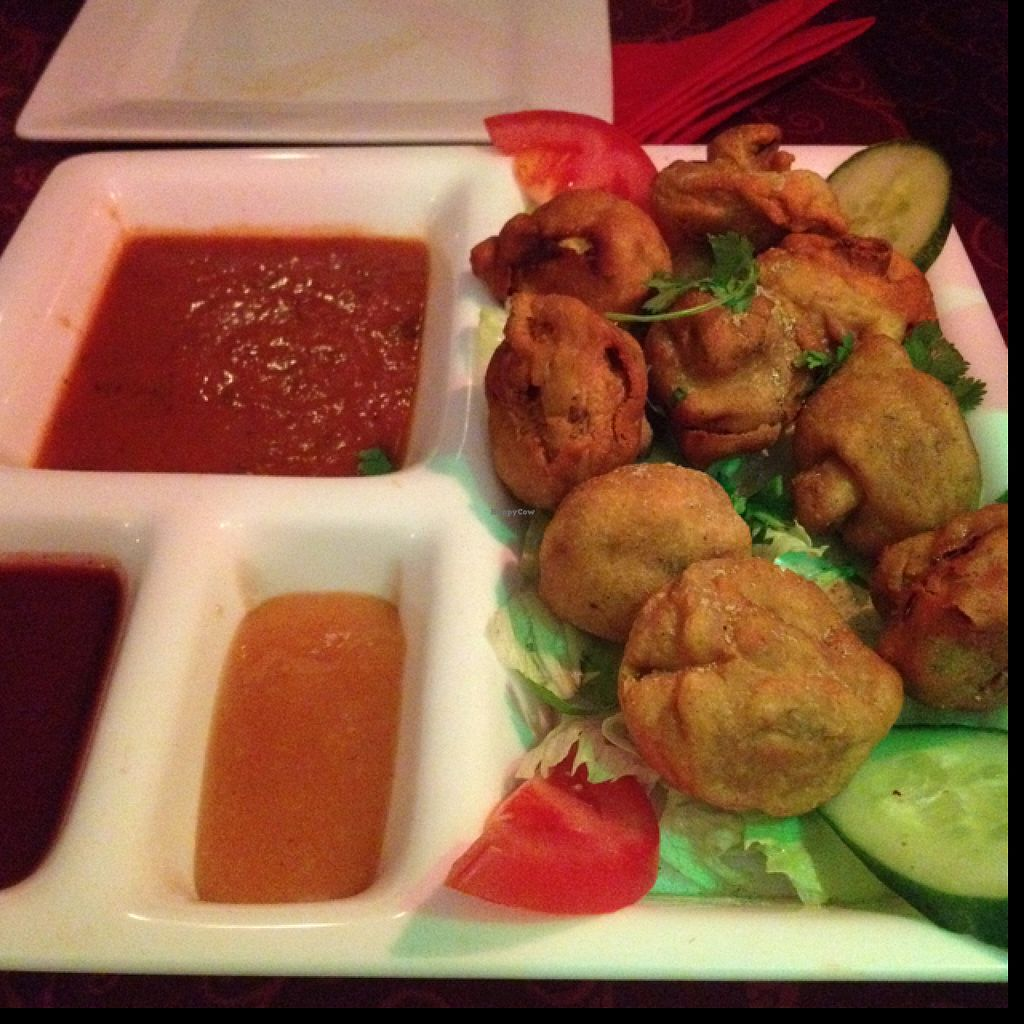 "Photo of Krishna  by <a href=""/members/profile/Joloco"">Joloco</a> <br/>Mushroom pakora (starter) <br/> July 8, 2016  - <a href='/contact/abuse/image/73770/158523'>Report</a>"