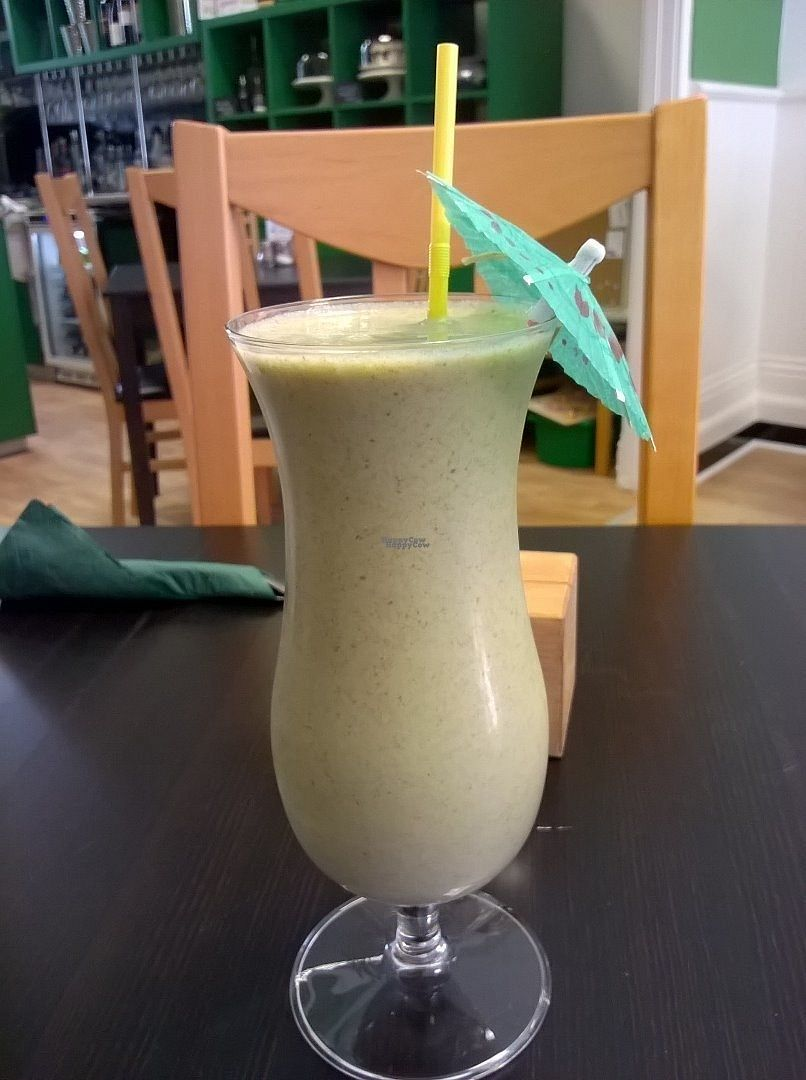 """Photo of The Green Room  by <a href=""""/members/profile/deadpledge"""">deadpledge</a> <br/>Veggie refresher smoothie - Ginger, apple, spinach, carrot and lemon zest <br/> August 30, 2016  - <a href='/contact/abuse/image/73773/172404'>Report</a>"""