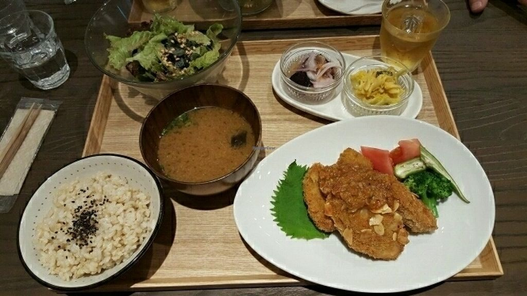 "Photo of Evah Dining Macrobiotic - Hakata Riverain Mall  by <a href=""/members/profile/ChristinaKaras"">ChristinaKaras</a> <br/>Cutlet set meal <br/> July 29, 2016  - <a href='/contact/abuse/image/73777/163148'>Report</a>"
