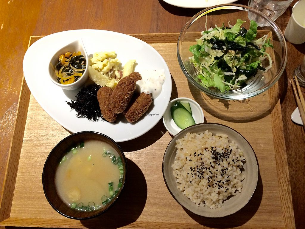 "Photo of Evah Dining Macrobiotic - Hakata Riverain Mall  by <a href=""/members/profile/Jocie"">Jocie</a> <br/>Main in the Evah set <br/> March 20, 2018  - <a href='/contact/abuse/image/73777/373204'>Report</a>"