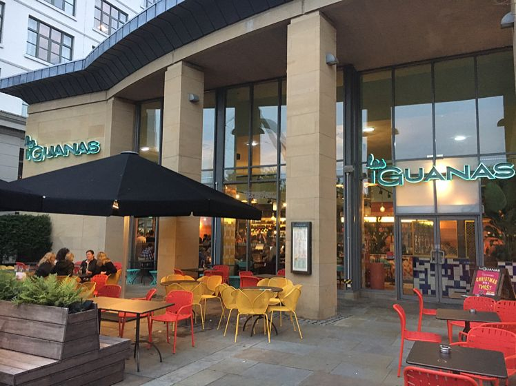 """Photo of Las Iguanas - Quayside  by <a href=""""/members/profile/hack_man"""">hack_man</a> <br/>outside terrace  <br/> October 8, 2016  - <a href='/contact/abuse/image/73789/180650'>Report</a>"""