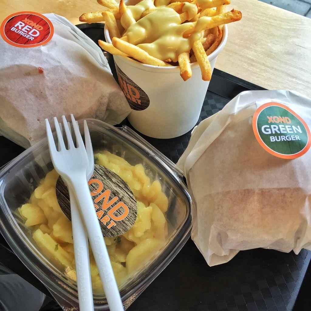 "Photo of CLOSED: XOND  by <a href=""/members/profile/MangoTango"">MangoTango</a> <br/>Burgers, potatoes with garlic mayo and potatoe salad <br/> May 28, 2016  - <a href='/contact/abuse/image/73795/151148'>Report</a>"