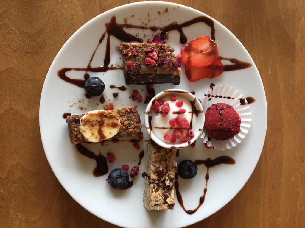 Photo of Earthlings  by HollyGraceWard <br/>selection of desserts with coconut yogurt  <br/> April 4, 2017  - <a href='/contact/abuse/image/73798/244682'>Report</a>