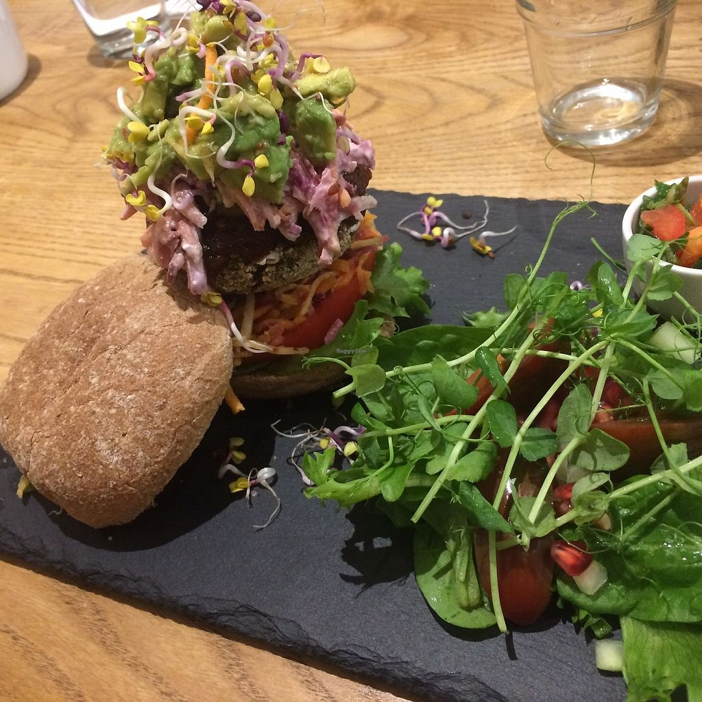 """Photo of Earthlings  by <a href=""""/members/profile/Hoggy"""">Hoggy</a> <br/>Specials Menu - 'Earthlings Burger' (salad instead of sweet potato wedges) <br/> November 1, 2017  - <a href='/contact/abuse/image/73798/320907'>Report</a>"""