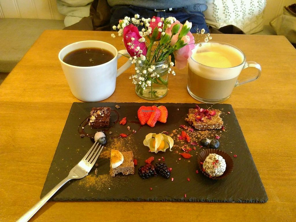 """Photo of Earthlings  by <a href=""""/members/profile/SnoozeTaylor"""">SnoozeTaylor</a> <br/>Mini Dessert Sampler Plate <br/> December 3, 2017  - <a href='/contact/abuse/image/73798/331837'>Report</a>"""