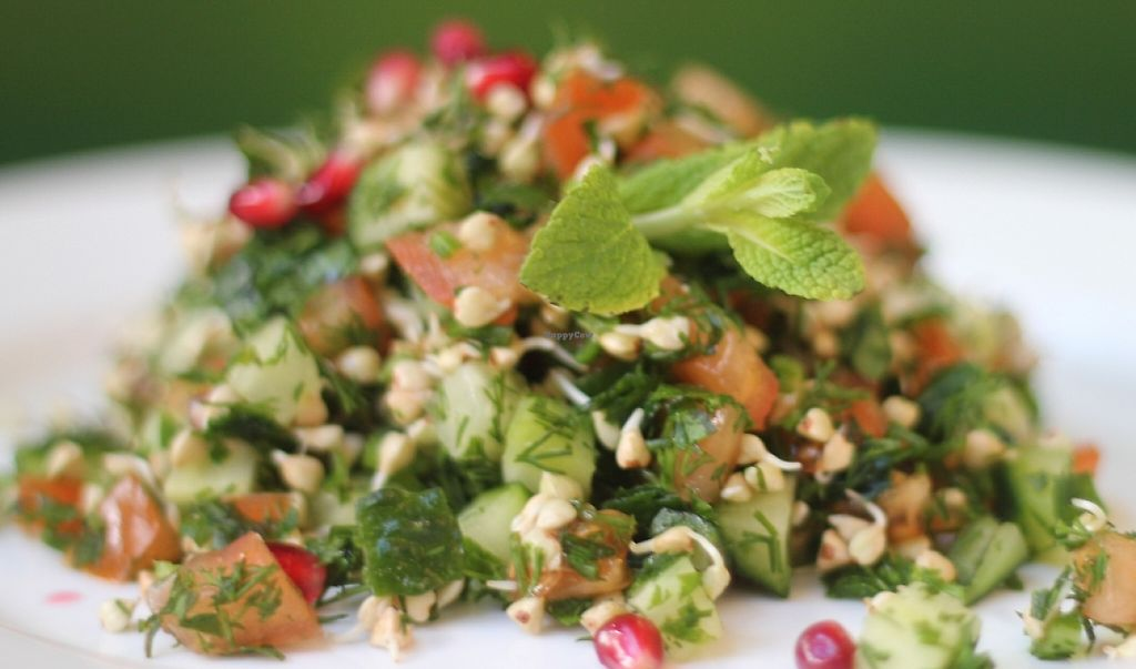 """Photo of Sumasbrod  by <a href=""""/members/profile/AlisaShkouro"""">AlisaShkouro</a> <br/>Tabbouleh salad with buckwheat sprouts and nut sauce <br/> May 16, 2016  - <a href='/contact/abuse/image/73804/243883'>Report</a>"""