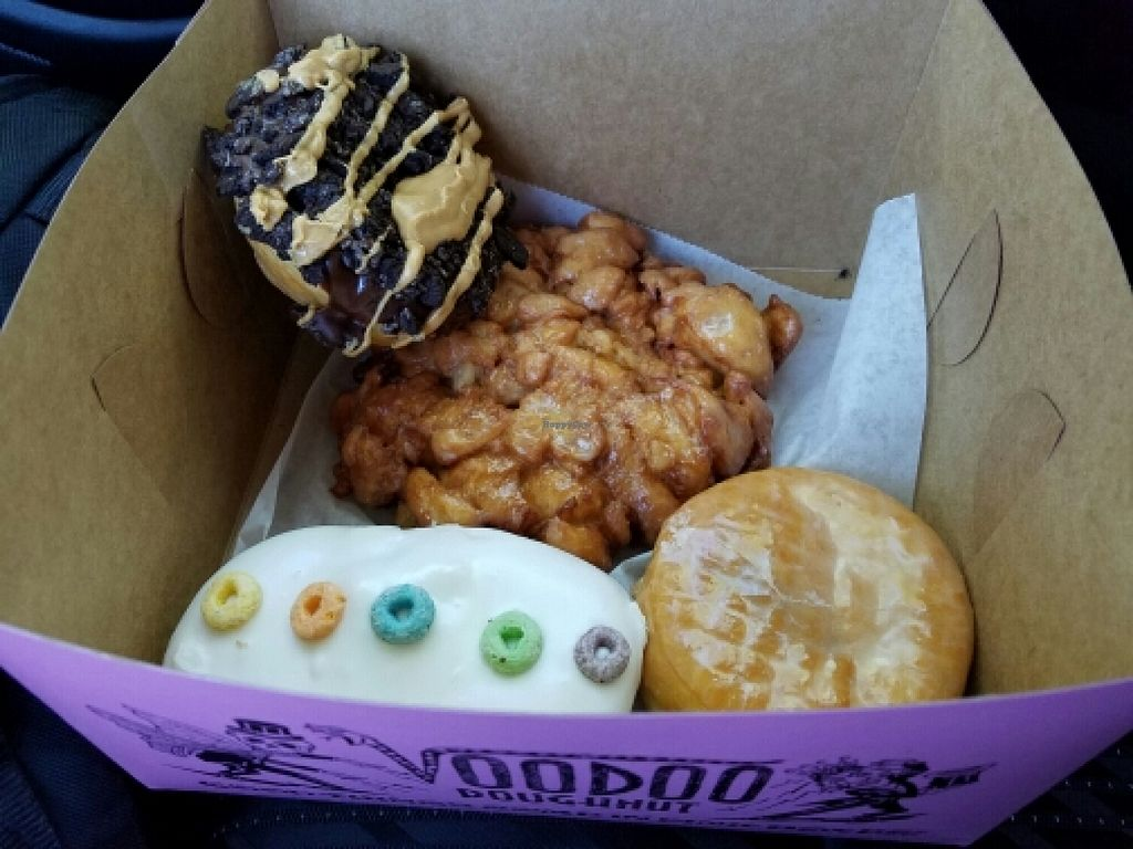 "Photo of Voodoo Doughnut  by <a href=""/members/profile/EverydayTastiness"">EverydayTastiness</a> <br/>vegan! <br/> May 28, 2016  - <a href='/contact/abuse/image/73826/151156'>Report</a>"
