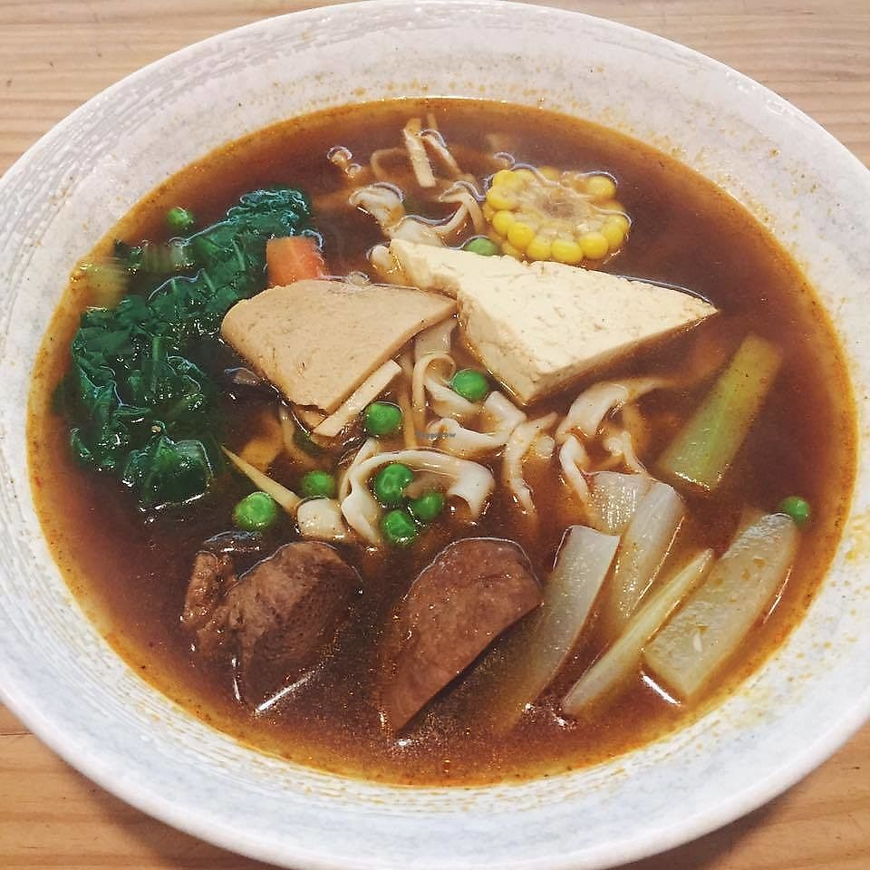 """Photo of Brother Su Vegan Kitchen  by <a href=""""/members/profile/HaileyPoLa"""">HaileyPoLa</a> <br/>Spicy Braised Soup with Noodles  <br/> August 19, 2017  - <a href='/contact/abuse/image/73831/294322'>Report</a>"""