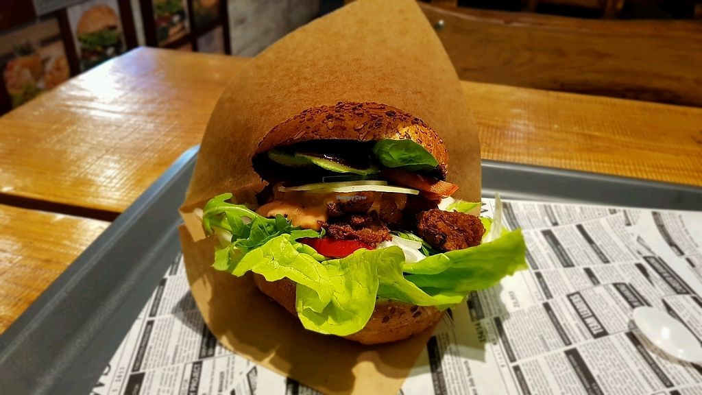 "Photo of Free Farma Burgerownia Roslinna  by <a href=""/members/profile/PetaMatej"">PetaMatej</a> <br/>Gyros Burger <br/> November 22, 2017  - <a href='/contact/abuse/image/73850/328171'>Report</a>"