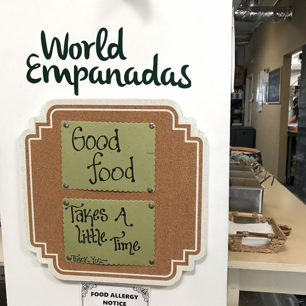 "Photo of World Empanadas  by <a href=""/members/profile/mep"">mep</a> <br/>Even if it does, service was incredibly quick! <br/> May 30, 2017  - <a href='/contact/abuse/image/73885/264032'>Report</a>"