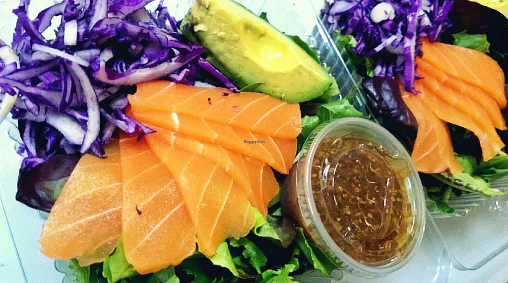 "Photo of CLOSED: Awesome Organic Coffee  by <a href=""/members/profile/jackie83826"">jackie83826</a> <br/>Vegan salmon sashimi salad with housemade pickled beet and avocado <br/> May 18, 2016  - <a href='/contact/abuse/image/73888/149747'>Report</a>"