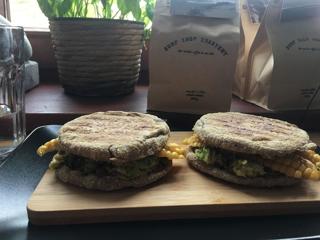 """Photo of Surf Shop Roastery  by <a href=""""/members/profile/Jana%20Kind"""">Jana Kind</a> <br/>Breakfast sandwiches <br/> September 11, 2016  - <a href='/contact/abuse/image/73901/175032'>Report</a>"""