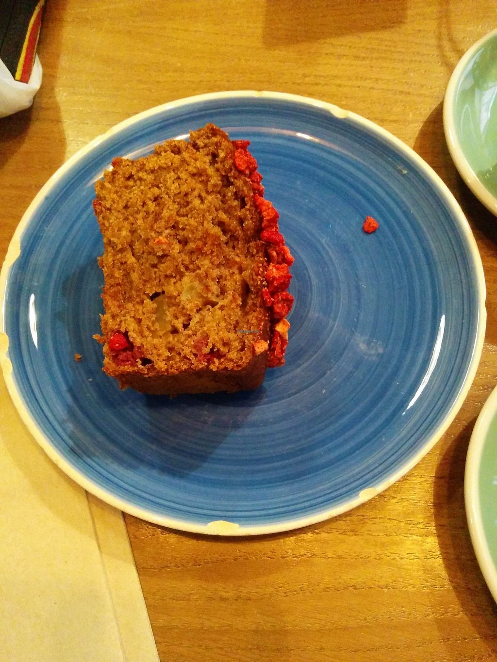 """Photo of Pum Pum Cafe  by <a href=""""/members/profile/FlokiTheCat"""">FlokiTheCat</a> <br/>Vegan cake <br/> October 6, 2017  - <a href='/contact/abuse/image/73911/312370'>Report</a>"""