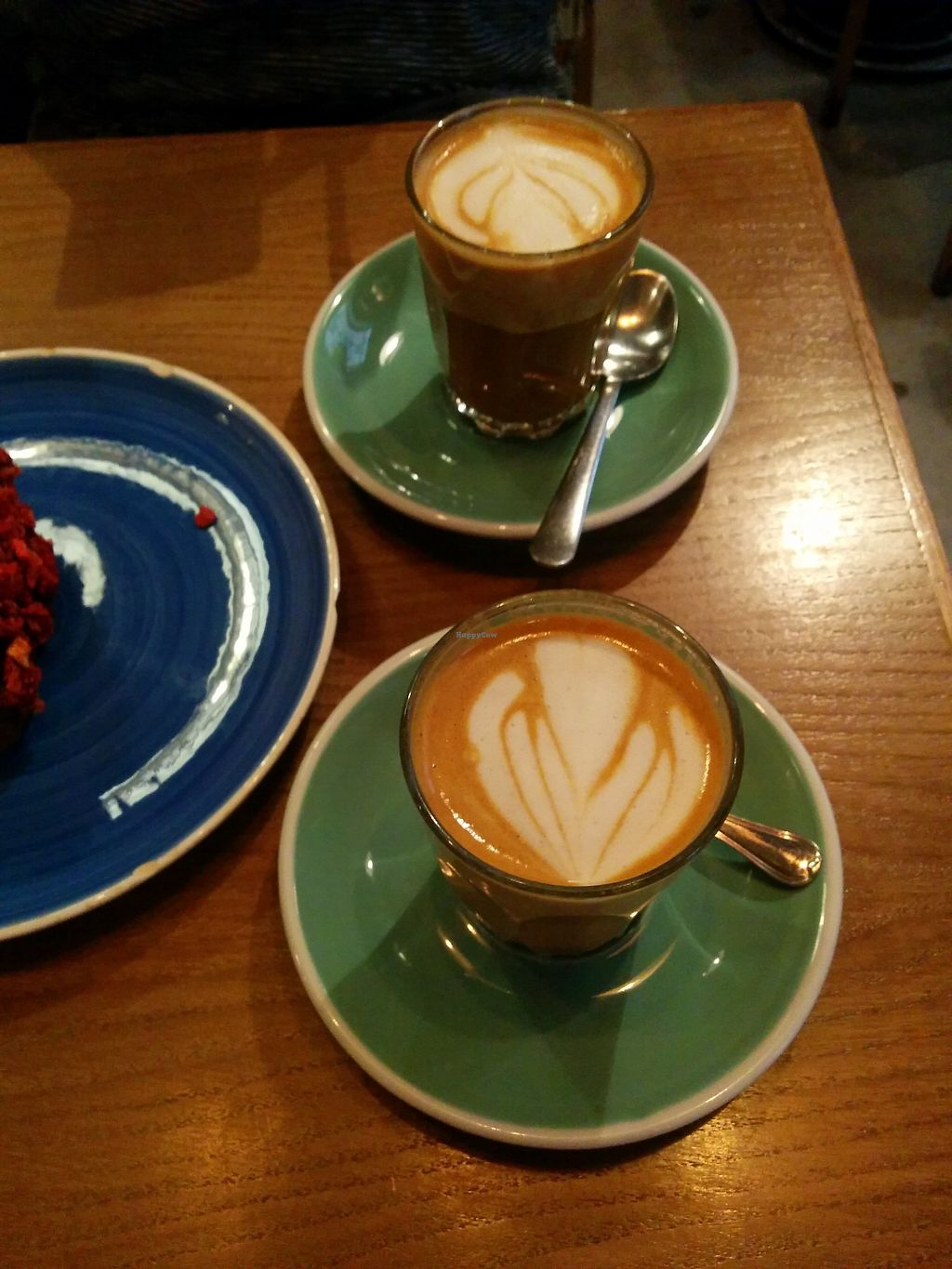 """Photo of Pum Pum Cafe  by <a href=""""/members/profile/FlokiTheCat"""">FlokiTheCat</a> <br/>Soja lattes <br/> October 6, 2017  - <a href='/contact/abuse/image/73911/312371'>Report</a>"""