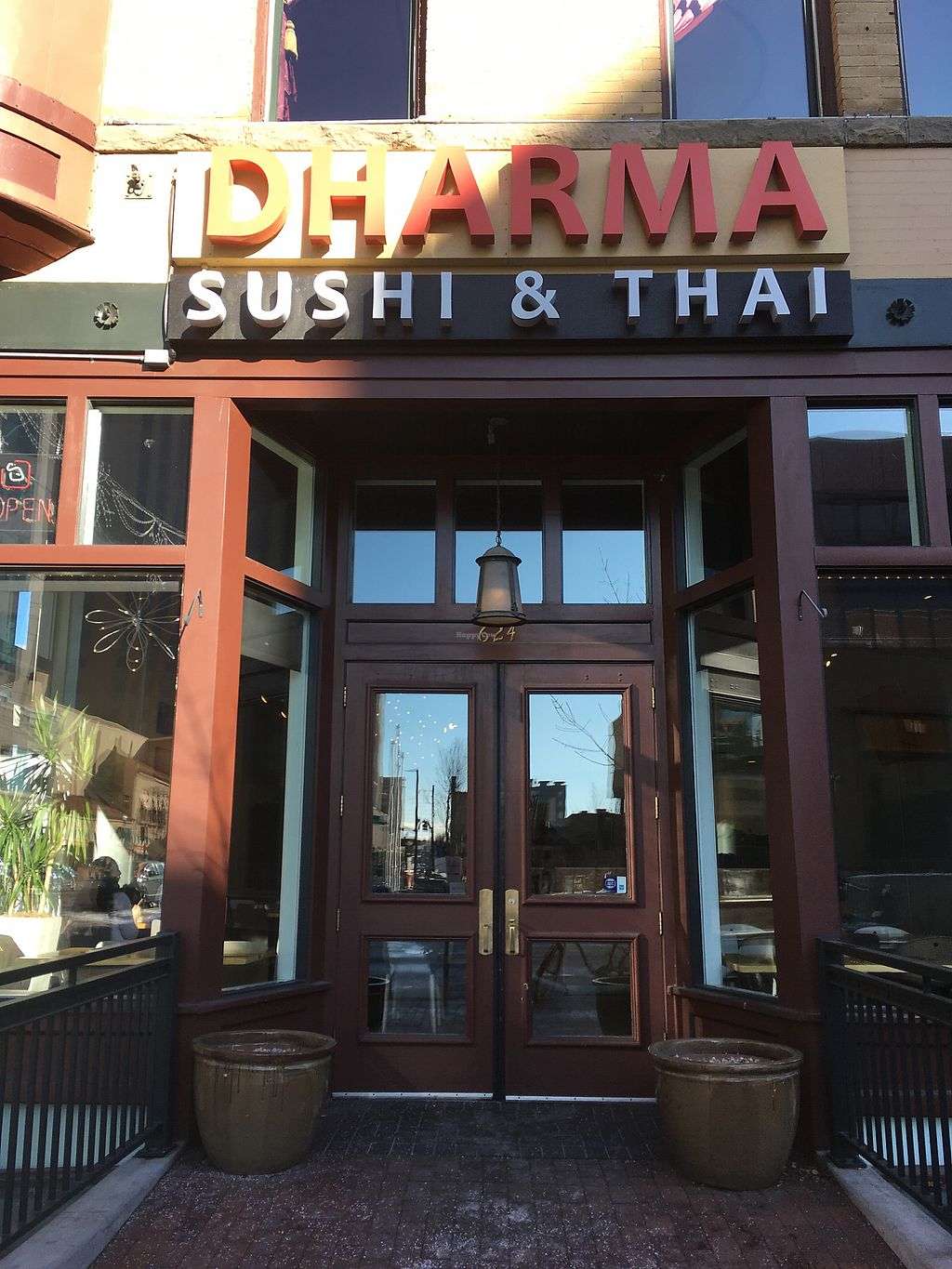 """Photo of Dharma Sushi & Thai  by <a href=""""/members/profile/rdfogelsong%40gmail.com"""">rdfogelsong@gmail.com</a> <br/>Outside <br/> December 16, 2017  - <a href='/contact/abuse/image/73928/336239'>Report</a>"""