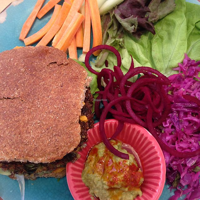 "Photo of Cafe Vida  by <a href=""/members/profile/IlzeKraukle"">IlzeKraukle</a> <br/>quinoa burger <br/> June 14, 2017  - <a href='/contact/abuse/image/73930/269056'>Report</a>"