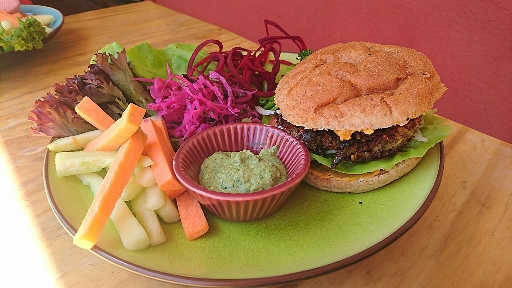 """Photo of Cafe Vida  by <a href=""""/members/profile/Kate%C5%99inaDvo%C5%99%C3%A1kov%C3%A1"""">KateřinaDvořáková</a> <br/>quinoa burger <br/> August 8, 2017  - <a href='/contact/abuse/image/73930/290560'>Report</a>"""